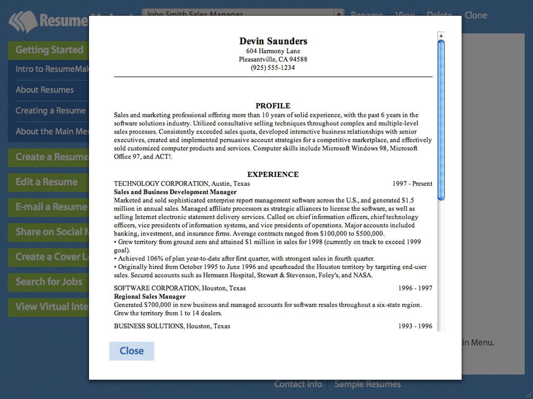 Home Resumemaker For Windows